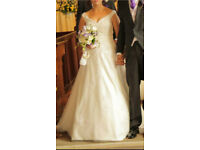 Size 10/12 ivory Alfred Angelo wedding dress