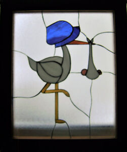 COLOURFUL STAINED GLASS to WELCOME BABY - A GREAT GIFT !