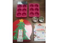 Baking items: Muffin tins, muffin cases, cake stand and GBBO Book. Collect from Fulham