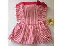 Hollister Top ('Preppy' bustier style) - Size Small (see below)