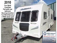 2010 BAILEY PEGASUS 534 - 4 BERTH - FIXED BED – STUNNING - STARTER PACK - WARRANTY
