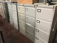 Grey 4 Draw Filing Cabinets