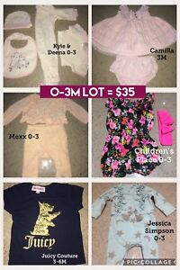 O-3 month BABY GIRL CLOTHS LOT