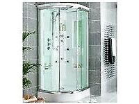 Quadrant shower cabin with Monsoon Fixed Head and Shower Tray from WICKES NEW £950 ONO