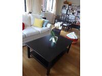 Coffee table Hemnes Ikea black-brown