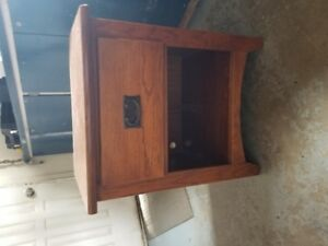 Wooden End Table with Drawer