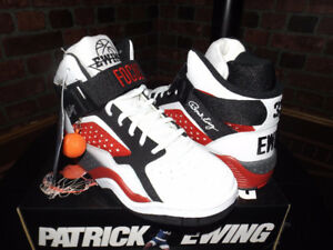ewing focus size 8.5 red black white 33 new
