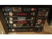 Doctor who vhs video tapes