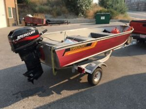 12 FT fishing boat with EZ Loader trailer