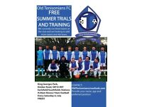 Free Trial Training Sessions for Saturday League Football Team