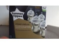 4 new tommee tippee bottles