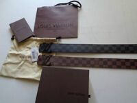 Black and Brown Louis Vuitton Belt