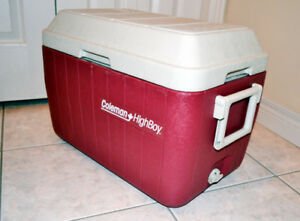 Red Coleman HighBoy 45 Qt Cooler
