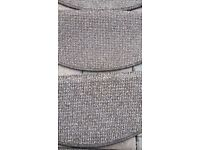 Stair tread mat covers