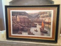 'At the end of the day Polperro' Colour print after Rodney Chapman