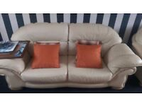 3 seater, and 2 seater settess in cream there in mint condition