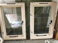 Pair of medium leaded windows