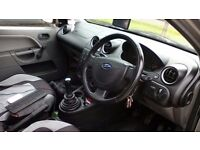 Ford Fiesta Finesse, 5 door silver hatchback petrol car 1299 cc 6 months MOT, service is up to date