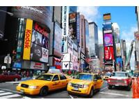 New York return flights for two -18-29 September 2017