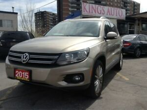 2015 Volkswagen Tiguan Highline,NAVI,LEATHER,PANO-ROOF, BACK-UP