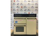 BELLING Classic 90DFT Dual Fuel Range Cooker - Cream & Chrome