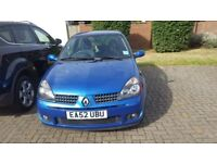 Renault Clio Sport 172 CUP 2.0 BLUE- *NOT DRIVABLE-GEARBOX NEEDS REPLACING*