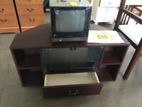 Retro tv stand with draw