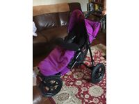 Purple Out N About nipper single 10months old like new