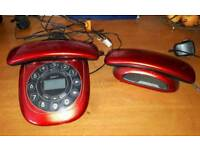 Red Twin Combo iDect Phone