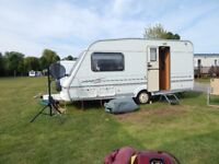 swift classic 2000, 2 birth caravan with awning