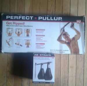 Perfect pullup exerciser with  ab straps new in box