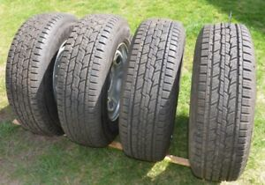 4 New LT245-75-17 Truck 10 ply tires and Ford rims