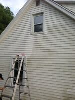 Pressure washing and window cleaning