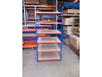 6 TIER WAREHOUSE GARAGE SHED SINGLE BAY RAPID RACKING RIVETIER SHELVING UNIT