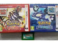 Pokemon Emerald, Alpha Sapphire and Omega Ruby for Sale