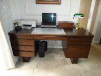 Large dark wood desk