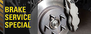 BRAKES:Pads fr $80 installed, Pads & Rotors fr $179 installed