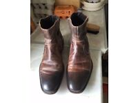 A pair of Dune antique brown leather boots 9 / 43