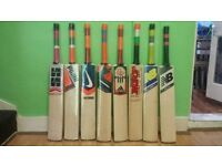 CRICKET BAT, ALL BRANDS AVAILABLE, THICK EDGE, SHORT HANDLE, ENGLISH WILLOW.