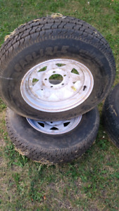 "14"" Trailer Tires with Rims"