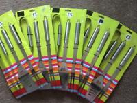 BBQ tool sets (3 piece - Stainless Steel) x 5 - £5 for all five sets