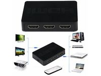 2.5Gbps 3 Port HDMI Switch Hub Digital Projectors A / V Receivers Set Top Boxes