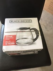 Brand new Black and Decker replacement carfe