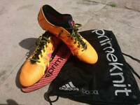 Adidas Mens X 15+ Primeknit Soft Ground Football Boots - Size 10uk