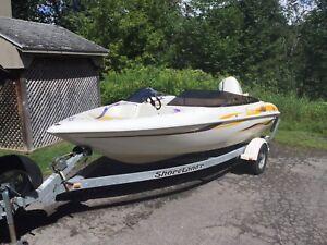 Bateau 8 places 115 hp