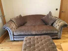 Loch Leven Grand Pillow Back Sofa In Mink