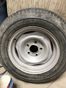 "14"" tire on Chevy rim (195/70/R14)"