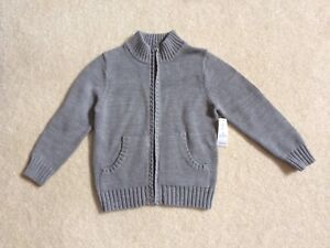 Zip up mock neck sweater for boys