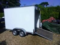 Large box trailer, Roller door, Ramp, Tow a van, twin wheel,