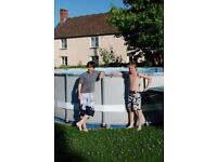 """Intex 16ft x 48"""" metal framed swimming pool (with all extras)"""
